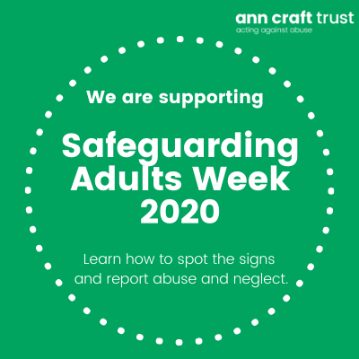 Proud to be raising awareness for National Safeguarding Adults Week